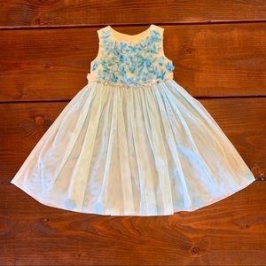 Other - Blue & Yellow Formal Dress Girls Size 5 Floral Hem